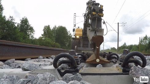 鉄道 海外 YouTube エストニア 保線 レール 交換