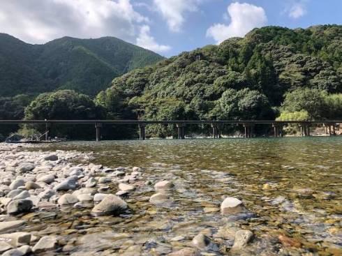 釣りバカ日誌14のロケ地になった四万十川の勝間沈下橋