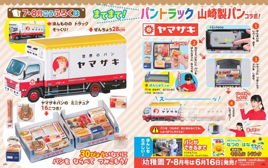 小学館 幼稚園 付録 ヤマザキ 山崎製パン コラボ トラック