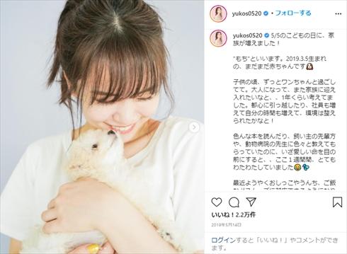 ゆうこす 菅本裕子 モテクリエイター 筋トレ ボディーメイク 愛犬 きゅう もち タイニープードル ナイトルーティーン Instagram