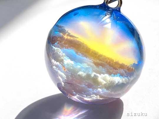 花 そら イメージ 雲 レジン 作品 ハンドメイド 銀のしずく