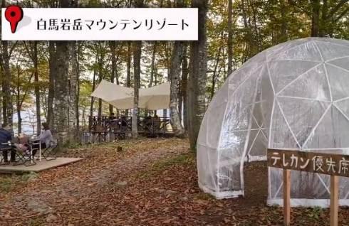 Web会議にも便利なドーム。雨の日も安心