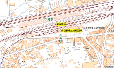 三島駅 ホーム えぐれ