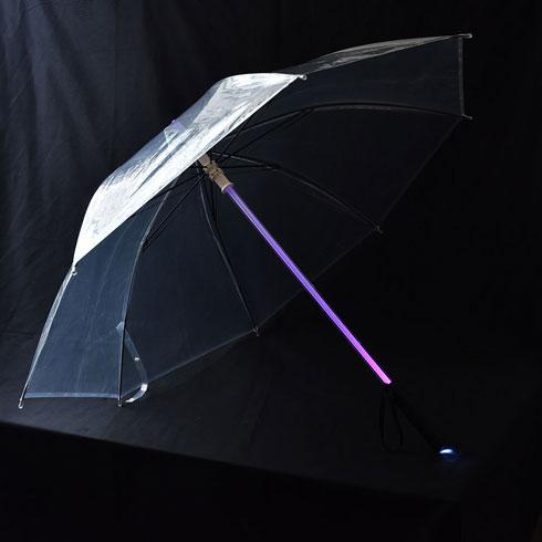 サンコー 夜道 安心 光る 傘 ライトセーバー ライト