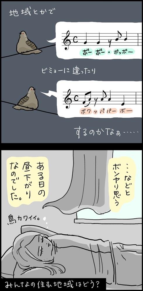 キジバトの鳴き方