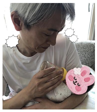 登坂淳一 娘 第一子女児 出産 哺乳瓶 ミルク