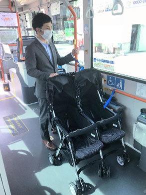 バス ベビーカーで乗車