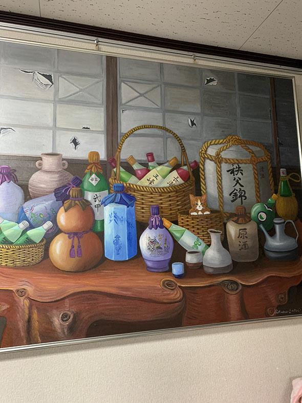 酒瓶の絵画