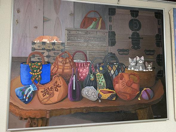 バッグの絵画