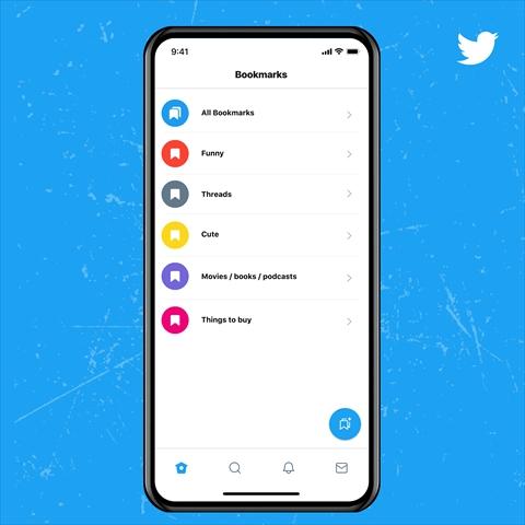 Twitter Blue ブックマークフォルダ