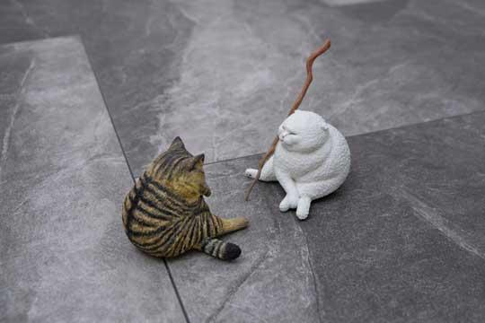 泣いてないもん 猫 フィギュア 粘土 めーちっさい