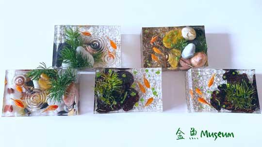 金魚 アクセサリー 雑貨 レジン 粘土 ハンドメイド 作品