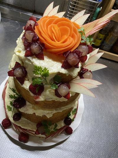 ヒシアケボノのケーキ