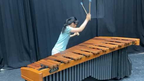 森のくまさん ノリノリ 演奏 木琴 マリンバ カシシ 打楽器 長谷見枝里