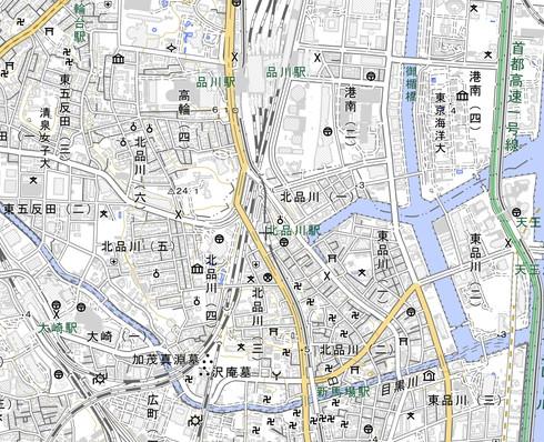 北品川駅周辺地図