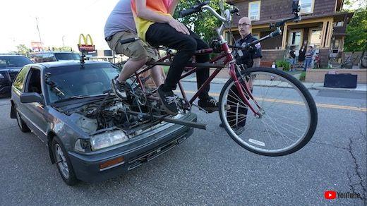 2人力 自転車 魔改造 シビック ホンダ