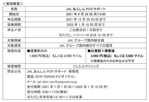 JAL あんしんPCRサポート