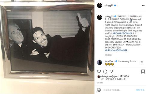 リチャード・ドナー グーニーズ スーパーマン リーサル・ウェポン 死去 追悼 スピルバーグ Instagram