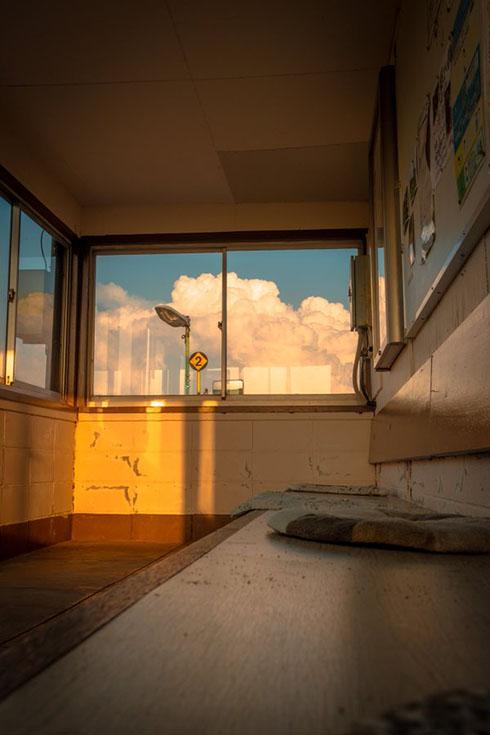 無人駅の写真