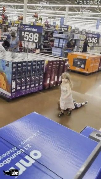 「Sister Drags Cranky Brother Through Store || ViralHog」