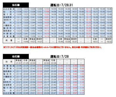 仙台 臨時列車
