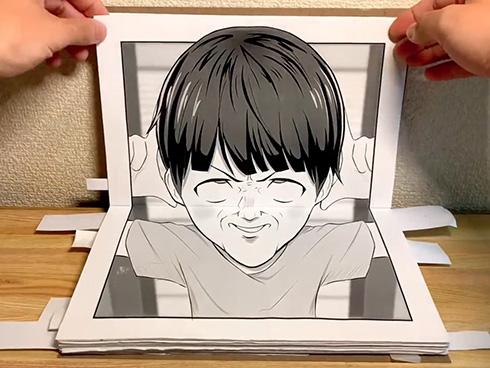 子どもをあやす「へんがお」が大人を救う 温かい家族の暮らしを描いた立体紙芝居に心がなごむ