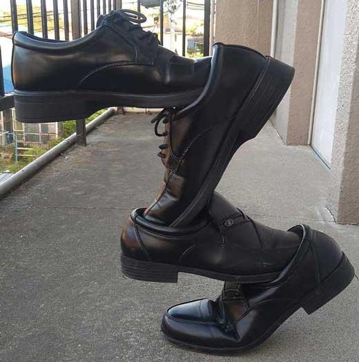 コインタワー 職人 靴 重ね タワー 自立