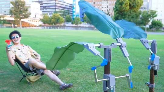 どこでも リゾート気分 南国扇風機 発明 カズヤシバタ