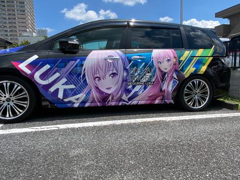 痛車 プロジェクトセカイ 巡音ルカ MPV