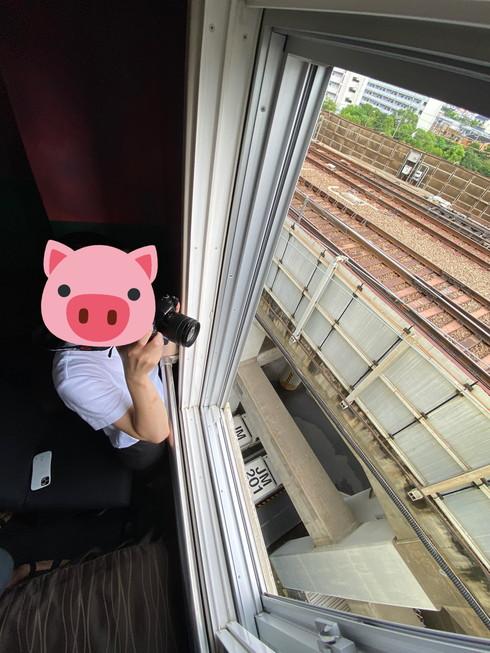 大阪コロナホテル 新幹線ビュー