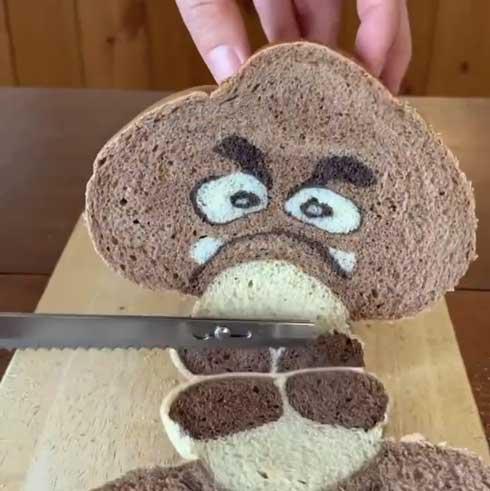 切ると 絵柄 イラスト パン クリボー 椎茸 しいたけ