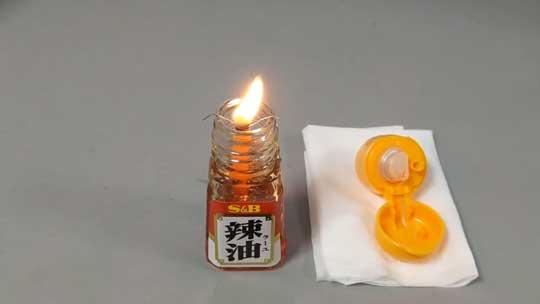 ラー油 キャンドル オイルランプ