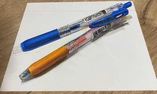 色鉛筆 ボールペン 絵 リアル