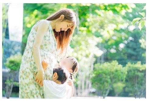 紺野あさ美 第3子 妊娠 マタニティフォト 長女 長男 子ども