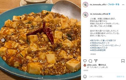 ともさかりえ 息子 子ども 料理 麻婆豆腐