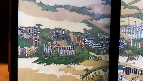 『関ケ原合戦図屏風』左上