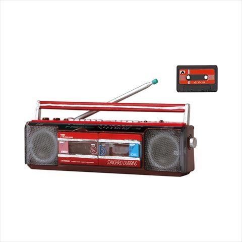 ステレオダブルカセッターBOOM&カセットテープ