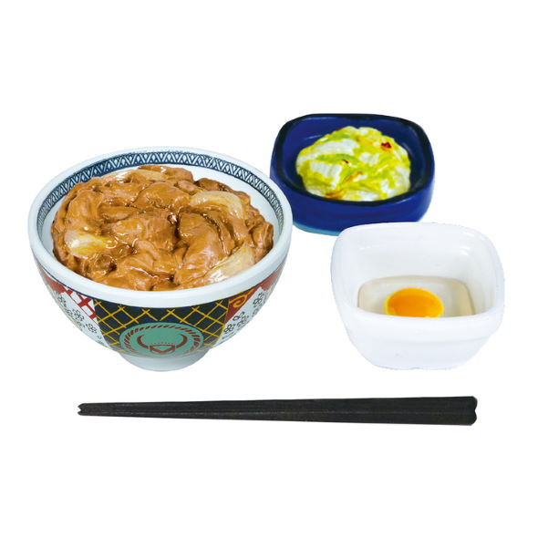 吉野家 ケンエレファント ミニチュア カプセルトイ 牛丼 定食
