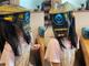 娘は単眼サイボーグ!? 機械のマスクで決めたサイバーパンク親子がメカかわいい