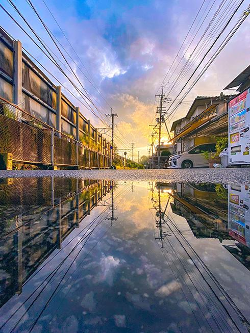 雨上がりに撮影された「反転世界」の写真 もう一つの世界があるかのような美しさがすてき