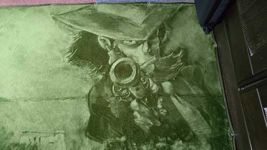 絨毯アート 次元 ルパン ファンアート