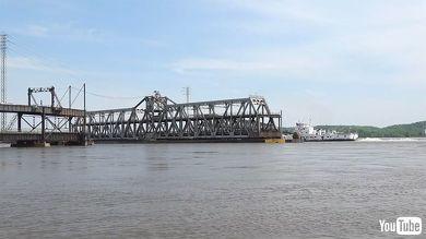 鉄道 海外 YouTube アメリカ 鉄橋 可動橋