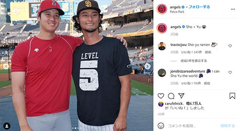 ダルビッシュ有 大谷翔平 メジャーリーグ MLB エンゼルス パドレス 対決 日ハム