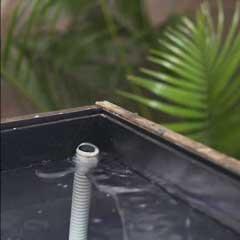 室内 雨の庭 制作