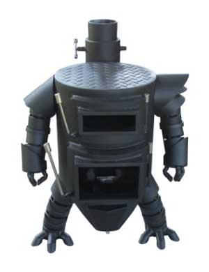 高知 土佐清水市 ふるさと納税 ロボット型 薪ストーブ