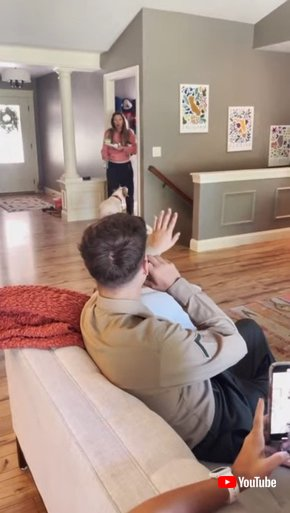 Military Son Surprises Mom at Her House