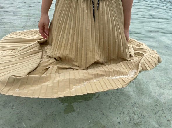 ワークマンの撥水ライトプリーツスカート