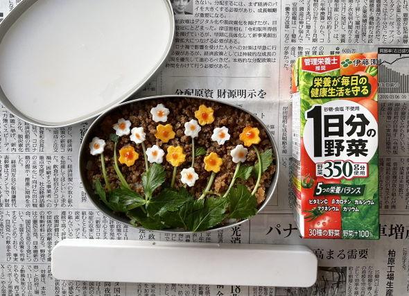 花畑 弁当 キャラ弁