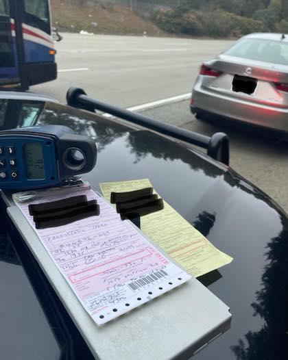 スピード違反 検挙 二度見 同じ場所