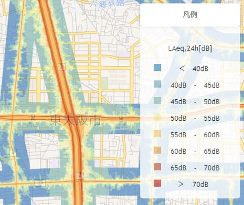 近畿大学 環境騒音マップ